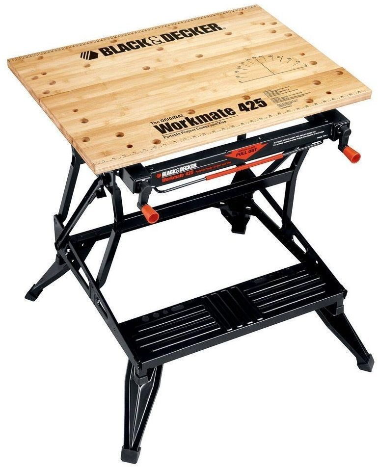 Swell Black Decker Workmate 425 Portable Folding Workbench Clamp Andrewgaddart Wooden Chair Designs For Living Room Andrewgaddartcom