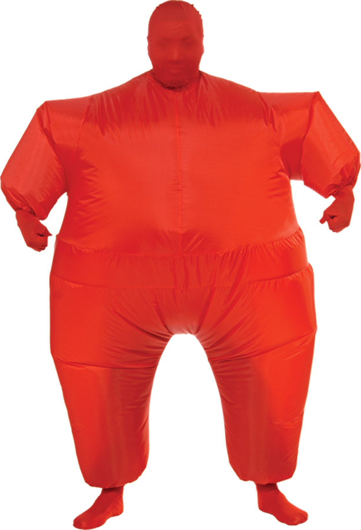Mens Orange Second Skin Suit Novelty Stag Night Fancy Dress Costume