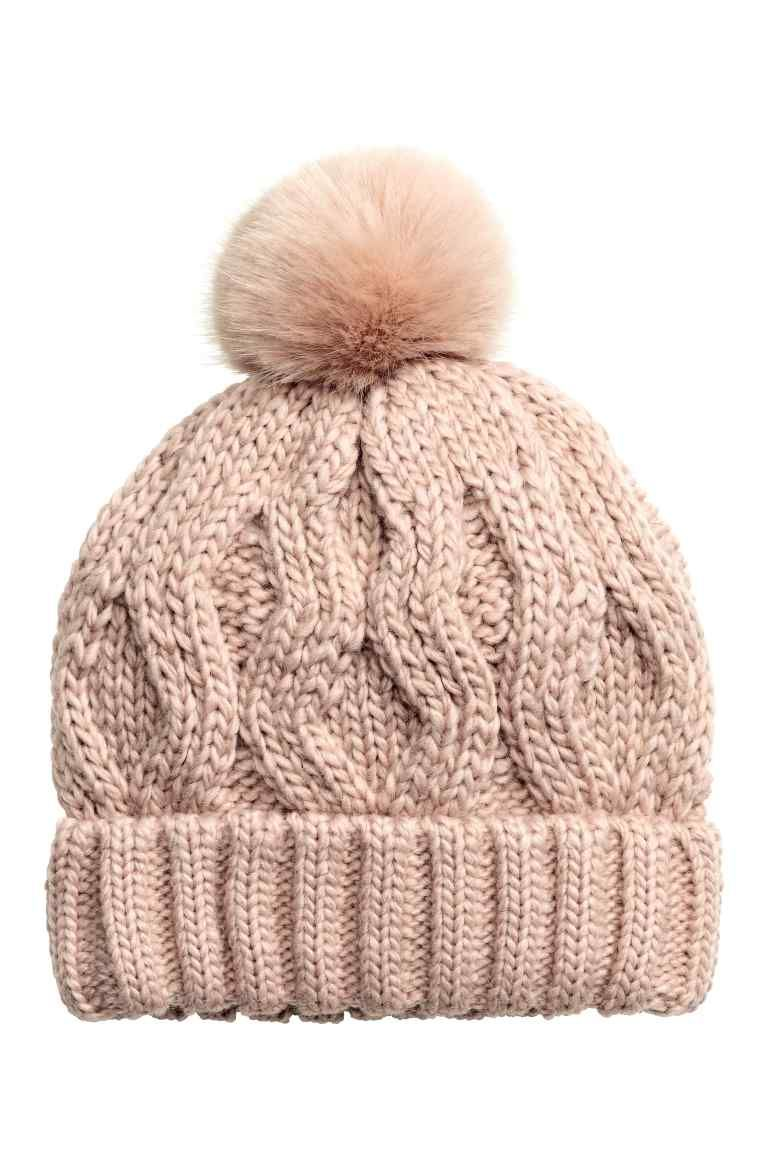 cableknit hat
