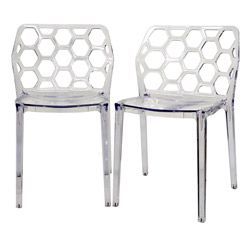 Honeycomb Clear Acrylic Modern Dining Chair