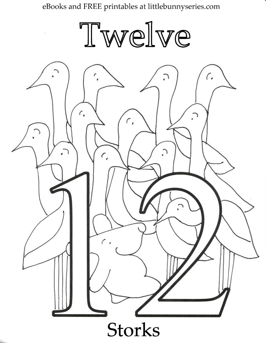 Number 12 Coloring Page Pdf Coloring Pages Preschool Worksheets Preschool Number Worksheets