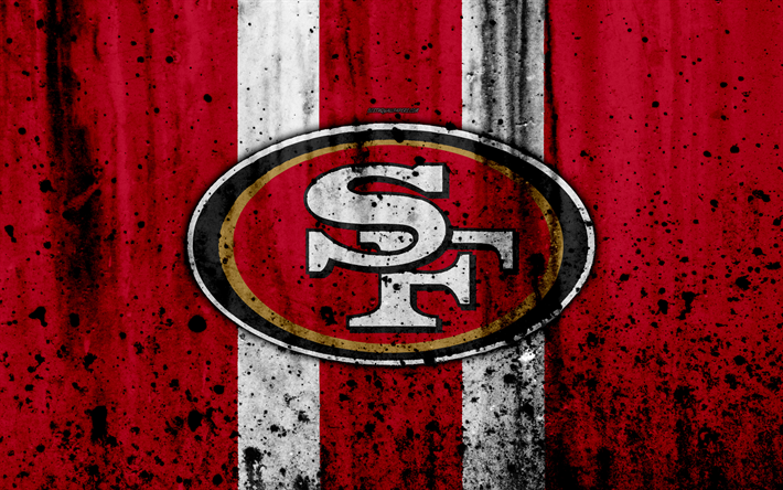 Download Wallpapers 4k San Francisco 49ers Grunge Nfl American Football Nfc Logo Usa Art