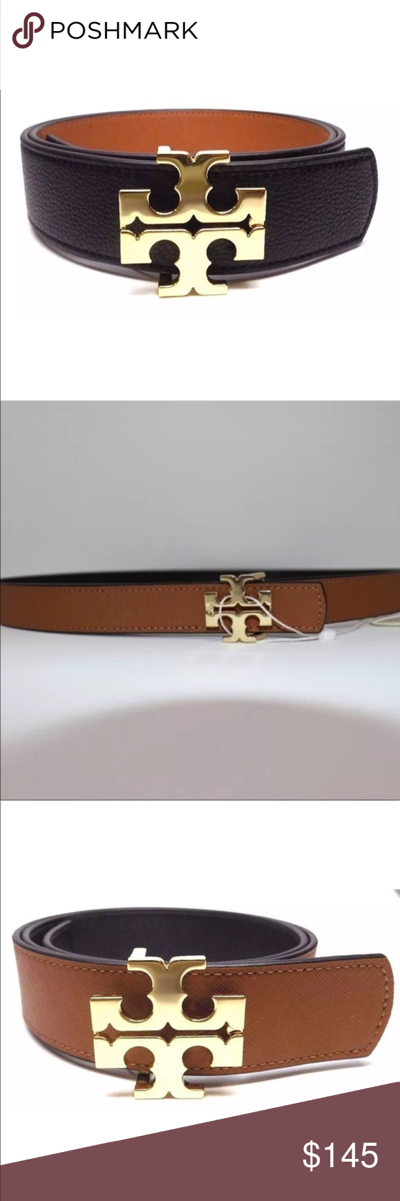 fe8d5b17c012 TORY BURCH Reversible Logo Belt 1.5