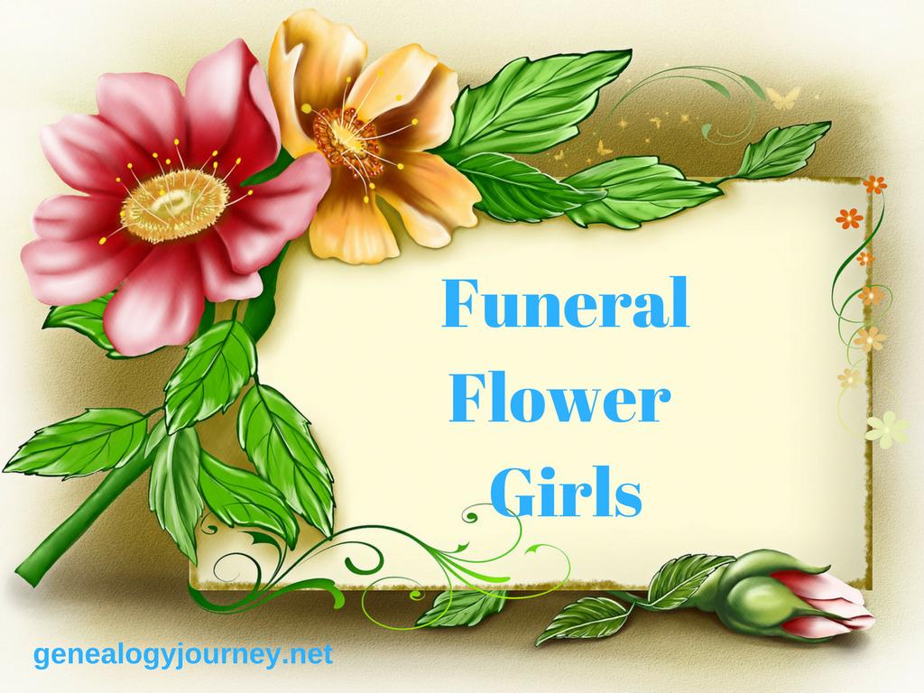 Funeral Flower Girls Happy wedding anniversary cards