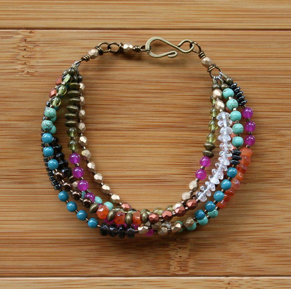 Gypsy Bracelet (Bright). $60.00, via Etsy.