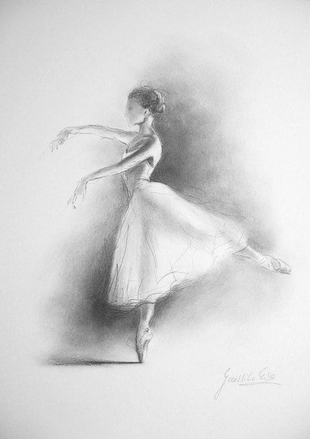 of Ballerina, Ballet Dancer, Pencil Drawing, Graphite Pencil Ballerina ...