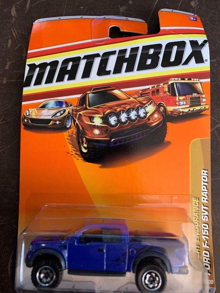 Matchbox 85 Ford F 150 Svt Raptor Blue Pickup Truck Desert Endurance Card Bent Matchbox Matchbox Cars Pickup Trucks