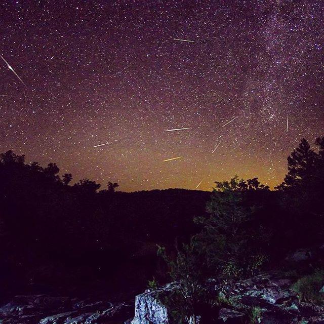 Fox 2 News On Instagram Perseid Meteor Shower In The Missouri Ozarks Photo By Viewer Keith Davis Missouri Milkyway Stars St Meteor Shower Ozarks Photo