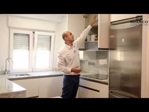 Video muebles de cocinas peque as blancas de dise o for Disenos de cocinas modernas
