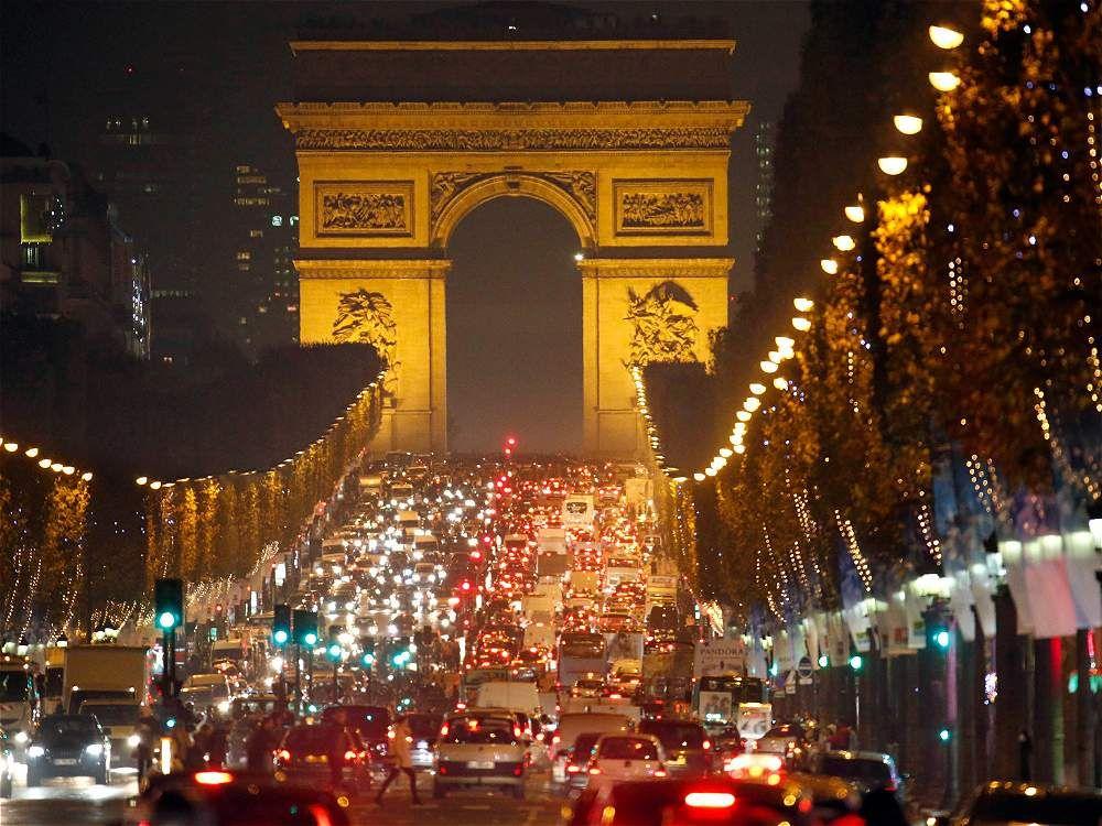 Iluminación navideña en Paris