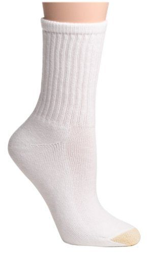 Gold Toe Women S 3 Pack Comfort Crew Athletic Sock White Size 9 11