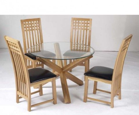 furniture malmo small round glass top natural solid oak veneer 2 even 4 seater dining table sets design ideas as an american style furniture design idea     ophelia round glass dining table and chairs   around the house      rh   pinterest com