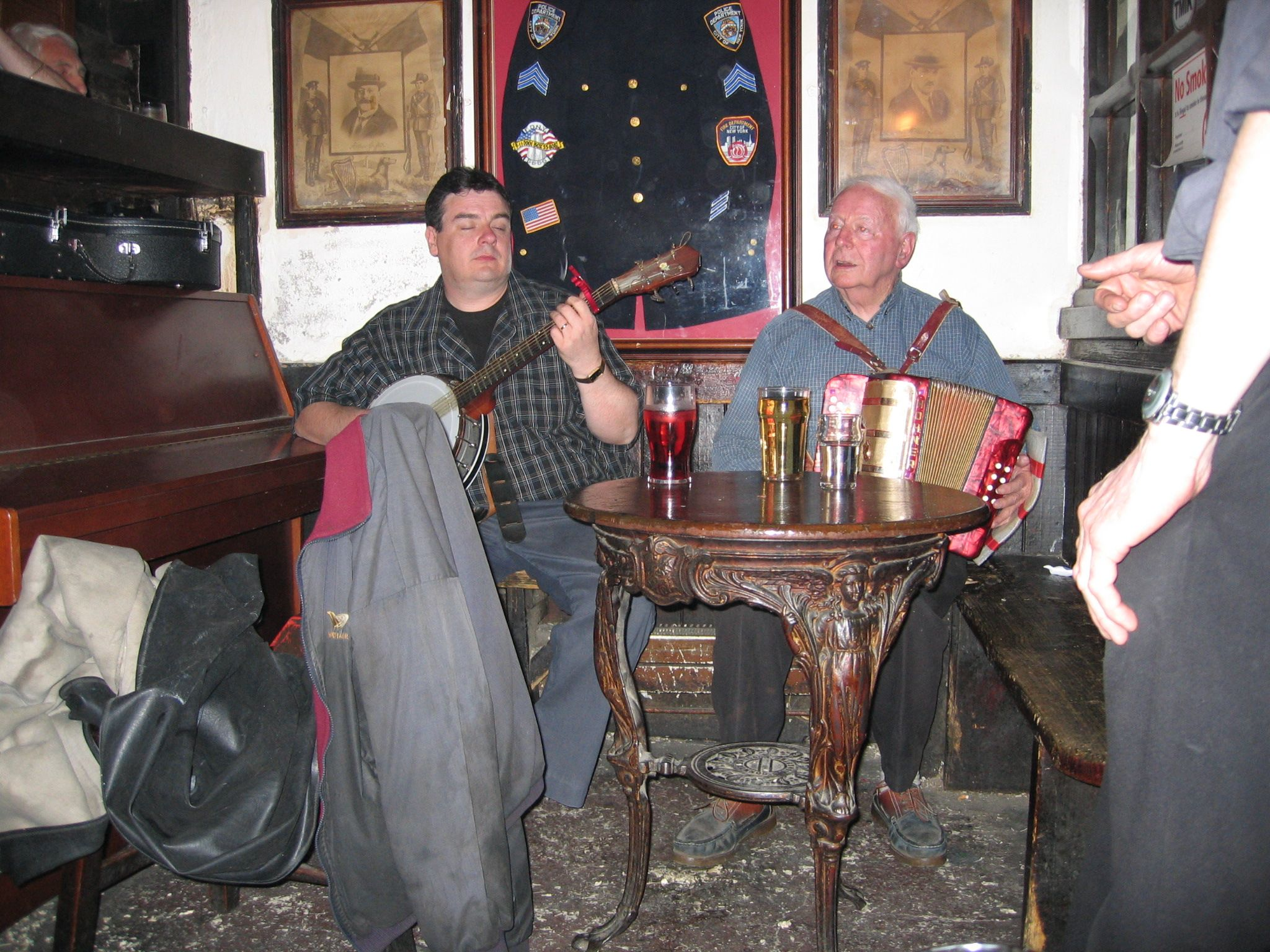 watching a session at Durty Nellies in Shannon Ireland 2006