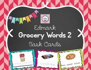 These Task Cards Were Made As Supplemental Materials For The Edmark Grocery  Words 2 Program.  Grocery Words