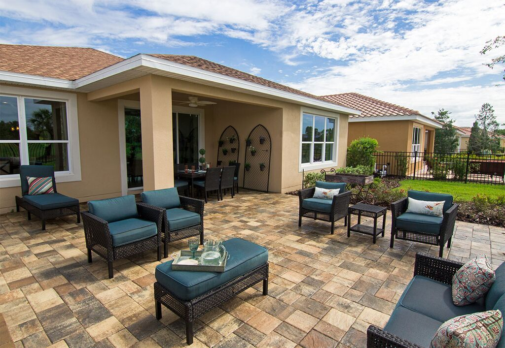 The texture of Stonehurst pavers add character to any ... on Cost Of Backyard Remodel id=84992