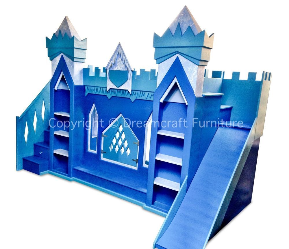 Disney Frozen Themed Ice Palace Bunk Bed With Storage Steps And ...