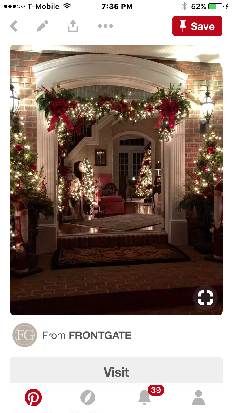 Christmas wreaths entryway outside decorations porch houses decorated for also pin by joanie balassis on decor rh pinterest
