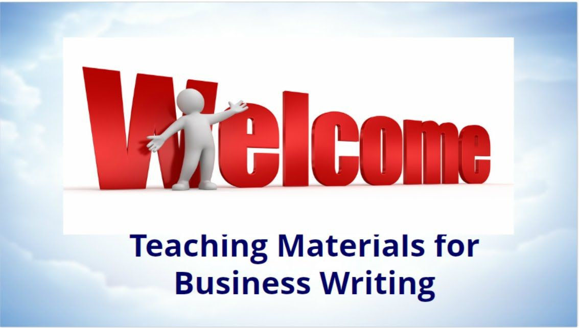 Teaching Materials for Business Writing
