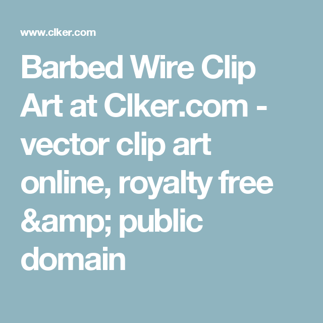 Barbed Wire Clip Art at Clker.com - vector clip art online, royalty ...