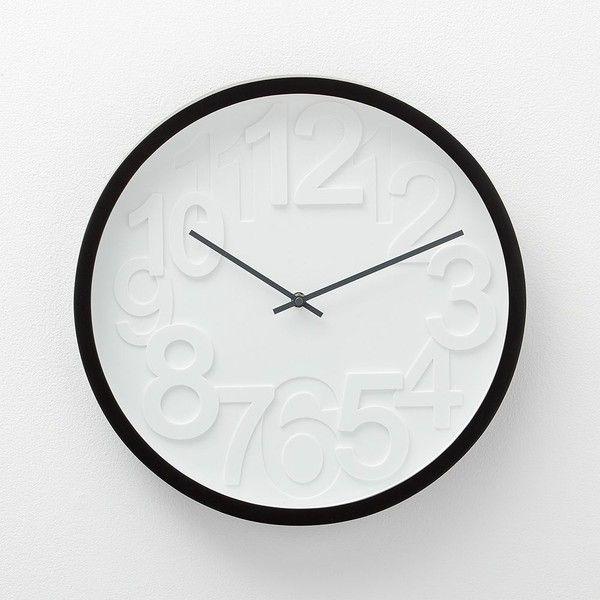 Crate Barrel Reece Wall Clock Wall Clock Clock Black Wall Clock