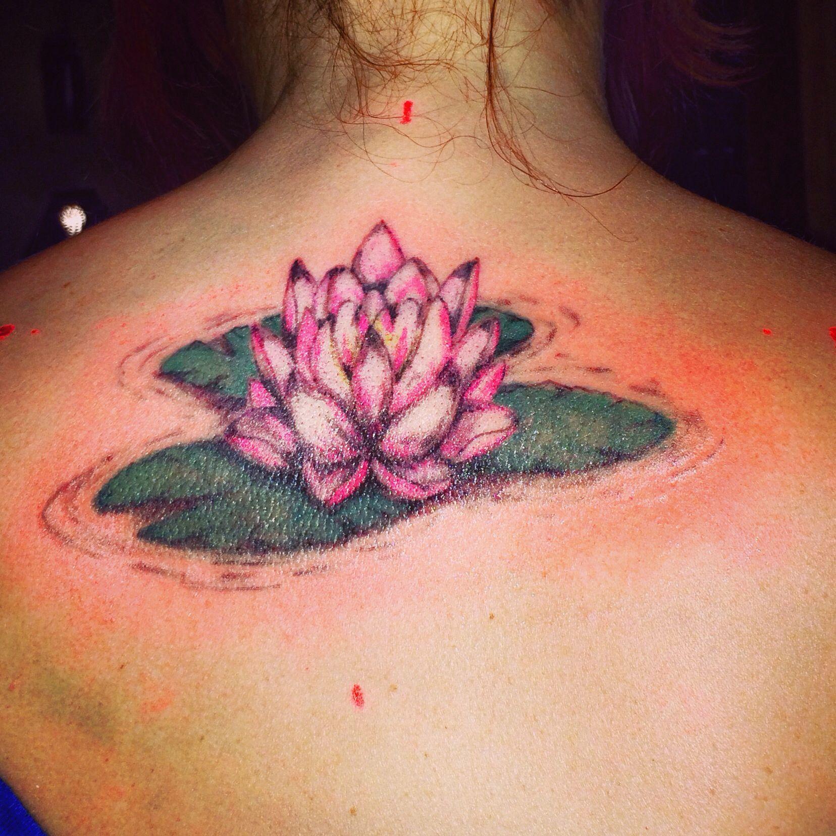 Lotus flower / lily pad tattoo by - Ranz | Tattoos ...