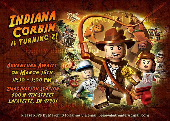 Cette liste est pour une invitation anniversaire personnalis e – Indiana Jones Party Invitations