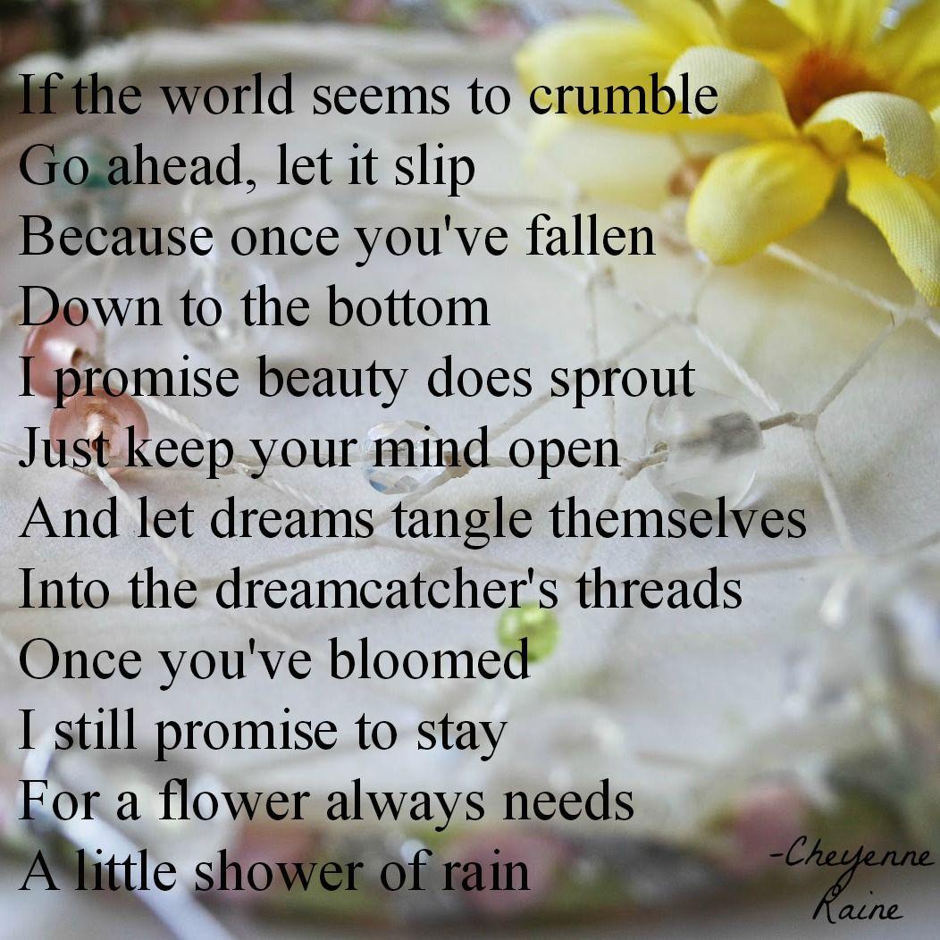 Dream Dreamcatcher Flower Poem Poetry Simple Beauty Love Life Joy