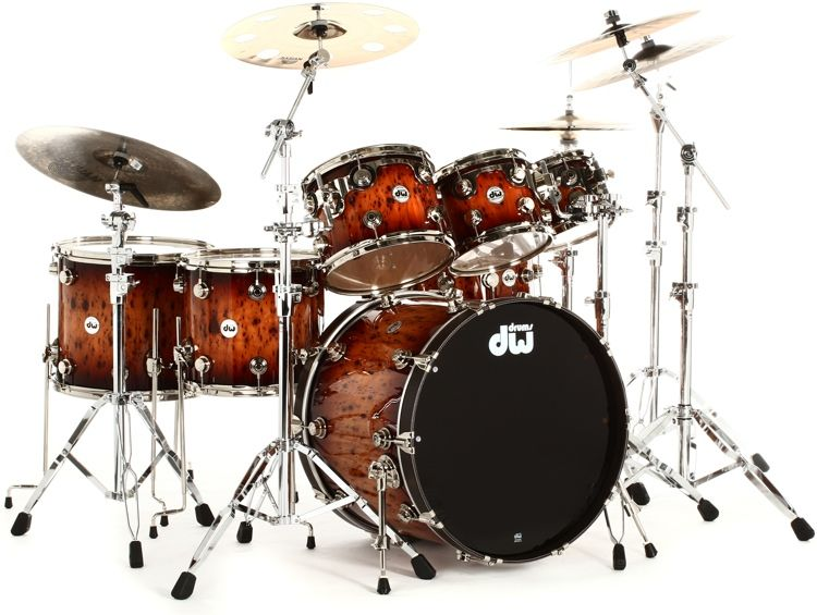 DW Collectors Exotic Series 7 Piece Drum Kit With 14 Snare 8
