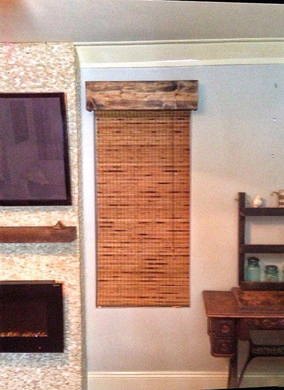 Custom Made Window Valance Rustic Wood Curtain Valance Wood