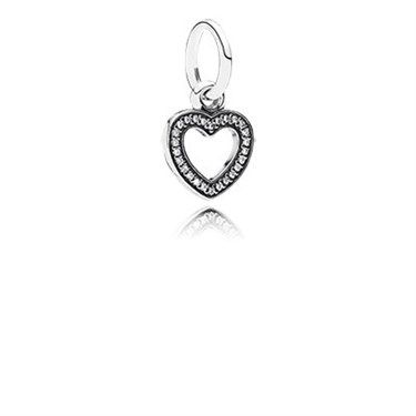Pandora Sparkling Heart Pendant Charm - Click to view larger image