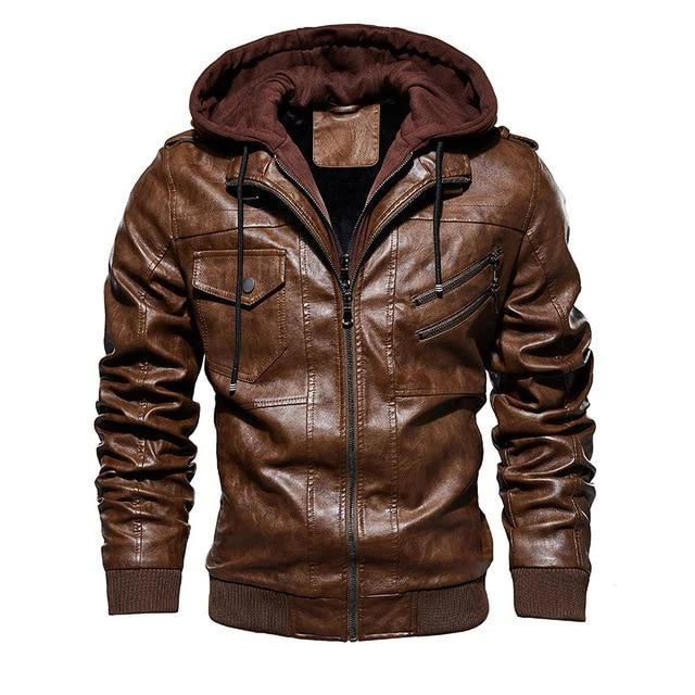 Men Motorcycle Leather Jackets Biker Alternative Fashion