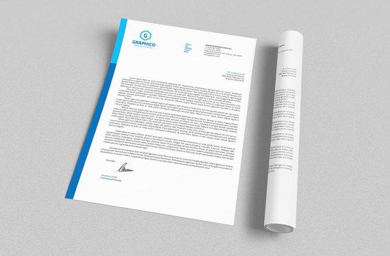 Corporate Letterhead Design Template - Adobe Illustrator / Photoshop ...
