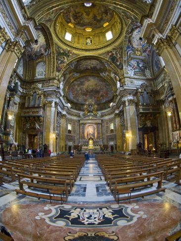 Interiors of the Church of the Gesu, Rome, Lazio, Italy