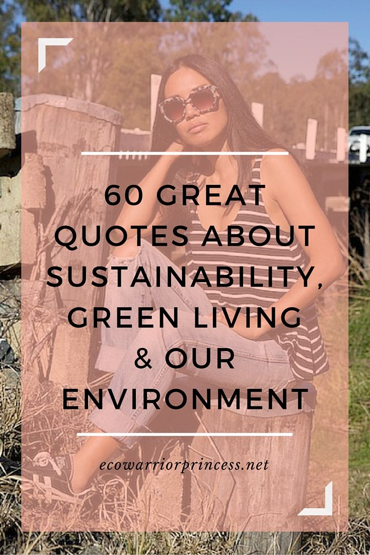60 great quotes about sustainability, green living & our environment http://ecowarriorprincess.net/2016/01/60-great-quotes-about-sustainability-green-living-our-environment/