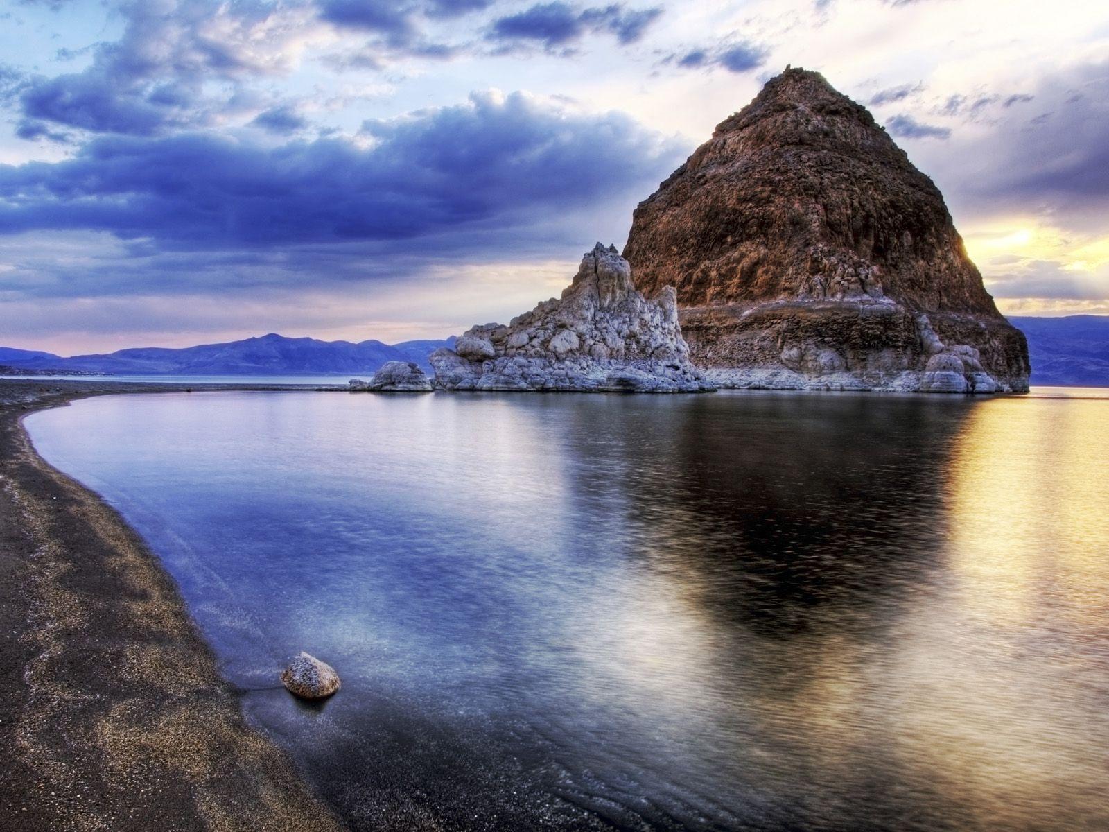 Sunset At Pyramid Lake Nevada