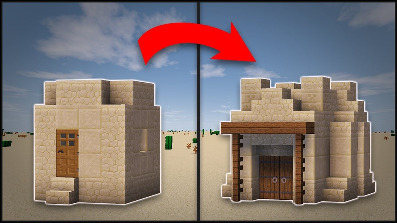 Minecraft: How To Remodel A Desert Village Hut | Minecraft