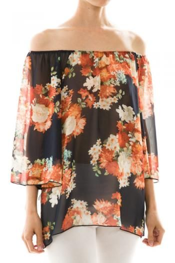 Floral Chiffon Top Spring Summer Women's Fashion Easter