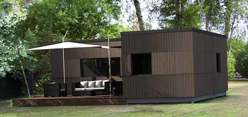 maison bois prfabrique studio de jardin en bois pvc. Black Bedroom Furniture Sets. Home Design Ideas