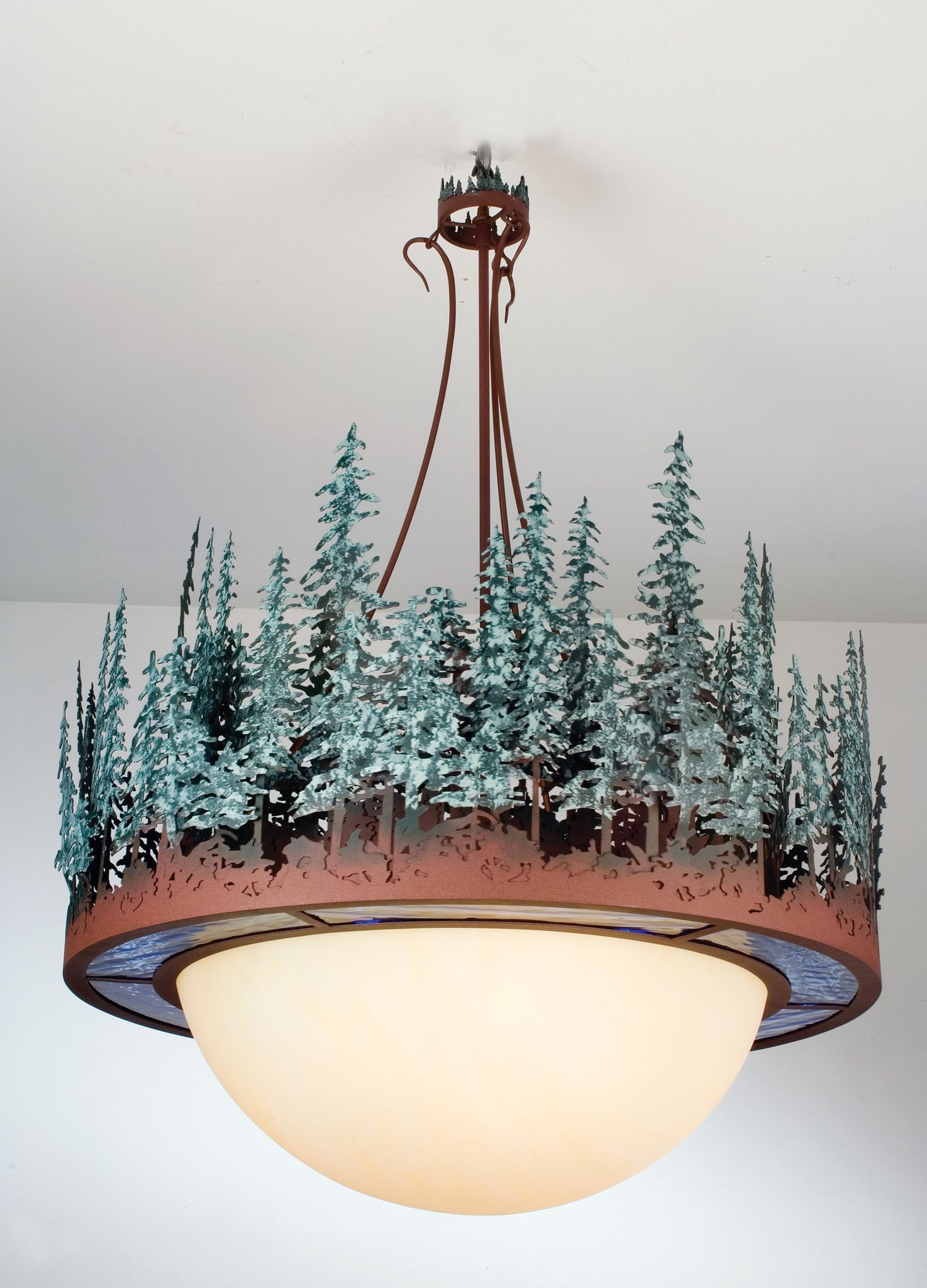 Meyda 36 W Pine Lake Inverted Pendant Products Lighting