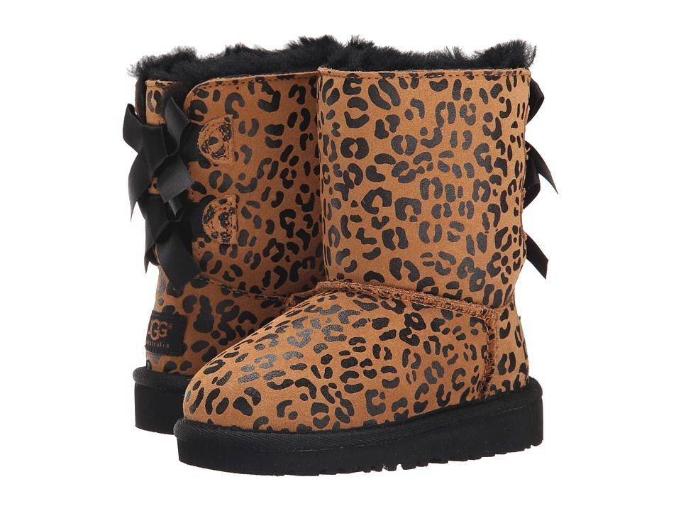e6401f38fc2 UGG Kids Bailey Bow Leopard (Toddler/Little Kid) Girls Shoes ...