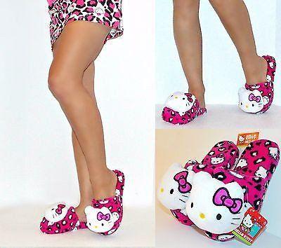 eaef2350c Hello Kitty Pillow Head Plush Slippers for Women | Hello Kitty ...