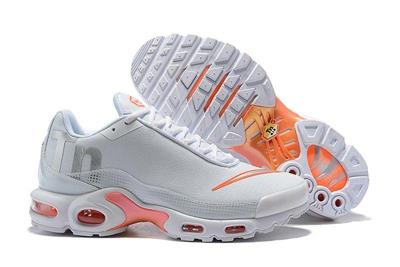 4d9a80595e1 Men s Nike Mercurial Air Max Plus TN SE Wolf Grey Orange Cushioning Running  Shoes Free Shipping