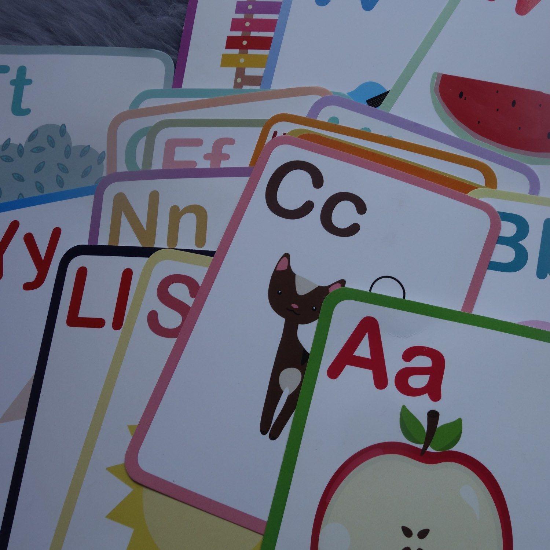 Abc flashcards preschool learning montessori toys