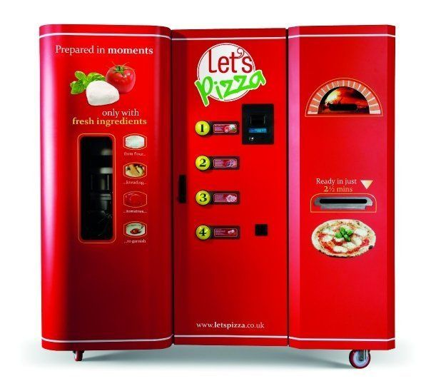 this pizza vending machine bakes fresh not frozen pies in less