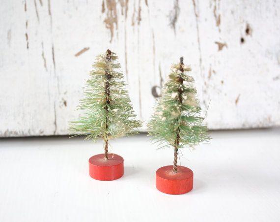 Vintage Bottle Brush Christmas Tree Trees, Bottle and Vintage