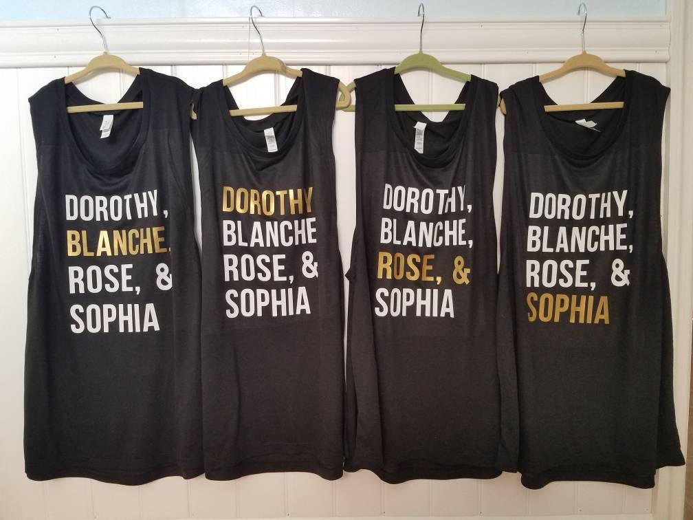 39dcae929 Golden Girls 4 shirts, Golden Girls Tank, Muscle Tank, Squad Goals, Best  Friends, Women's Tanktop, Black tank, Workout Tank by BrightShinyDesign on  Etsy