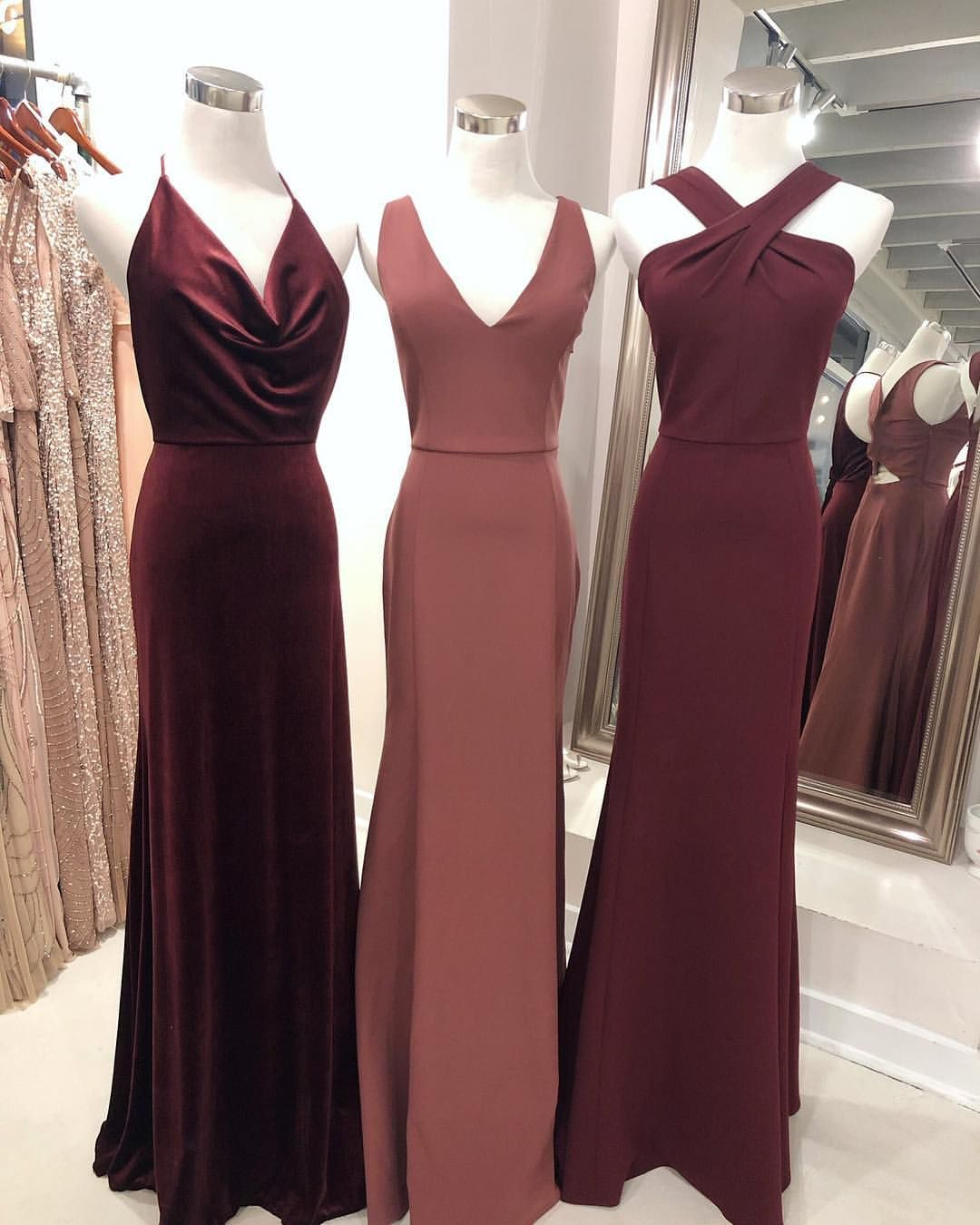 Dark Berry Cinnamon Rose And Hibiscus Perfect Palette Pals Or The Notes In O Long Bridesmaid Dresses Fall Bridesmaid Dresses Mermaid Long Bridesmaid Dresses