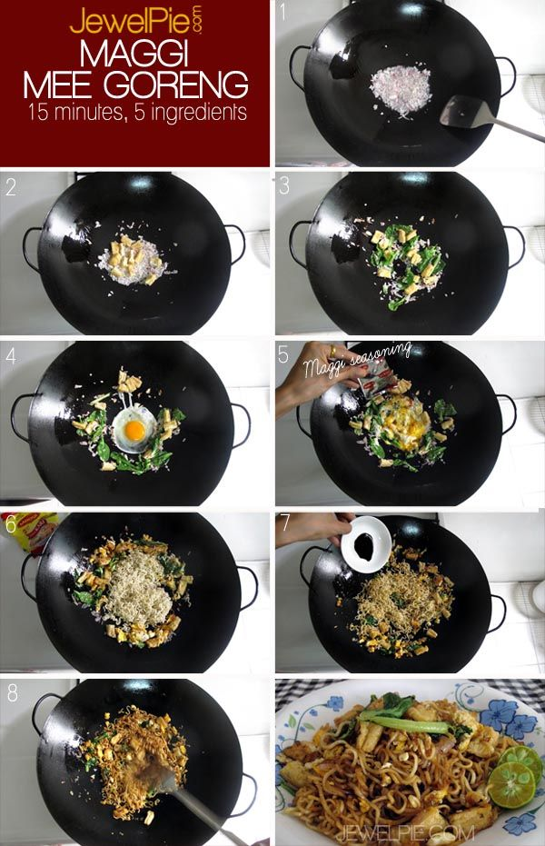 Maggi Mee Goreng 15 Minutes 5 Ingredients Maggi Recipes Malaysian Food Food