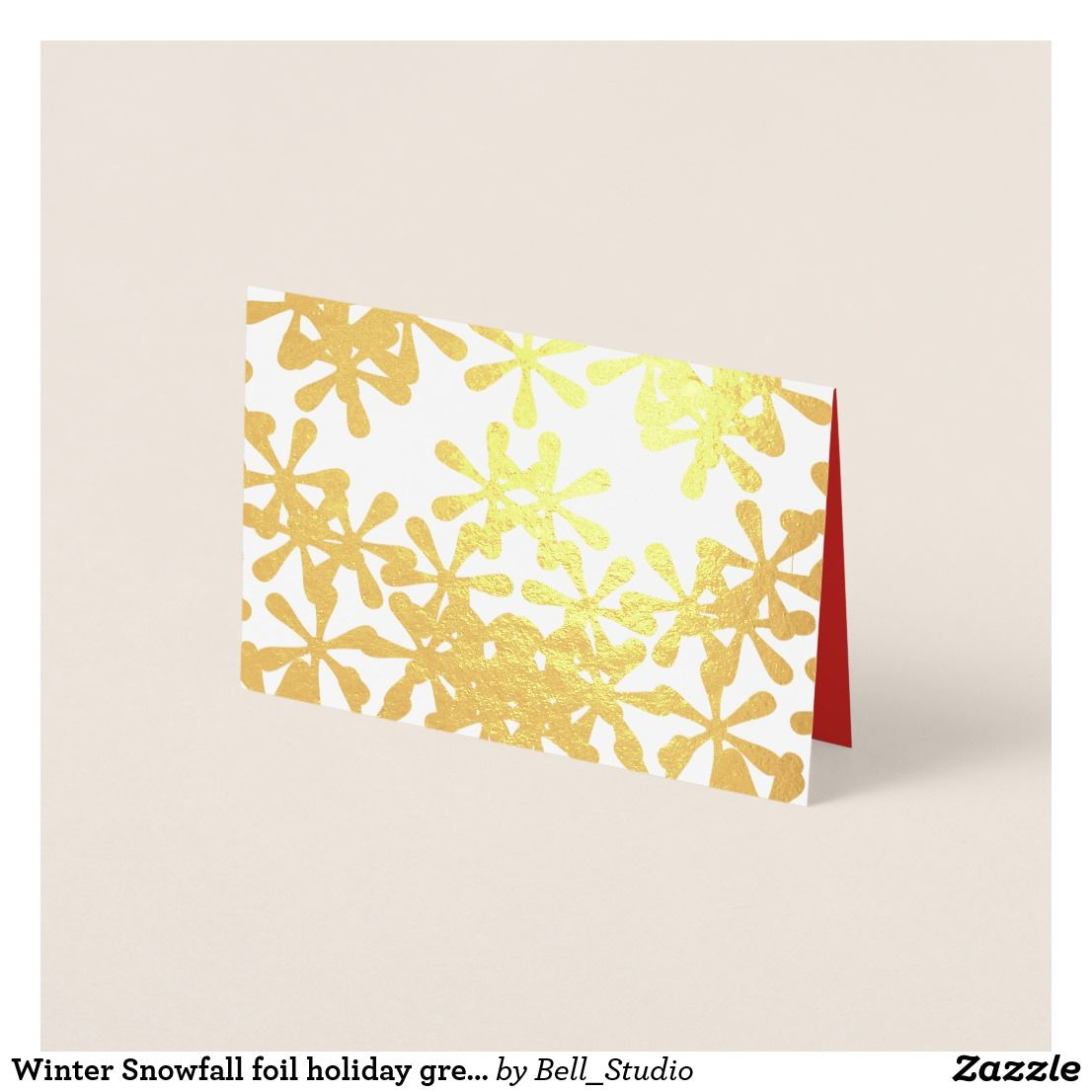 Winter snowfall foil holiday greeting card greeting cards winter snowfall foil holiday greeting card kristyandbryce Images