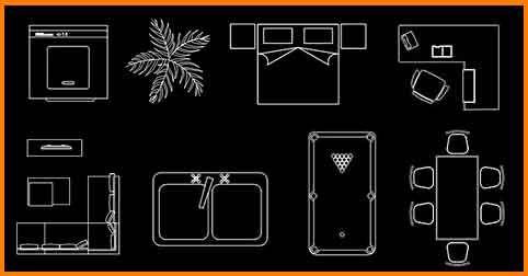 Bloques de AutoCAD 2d dwg gratis  figuras para autocad en